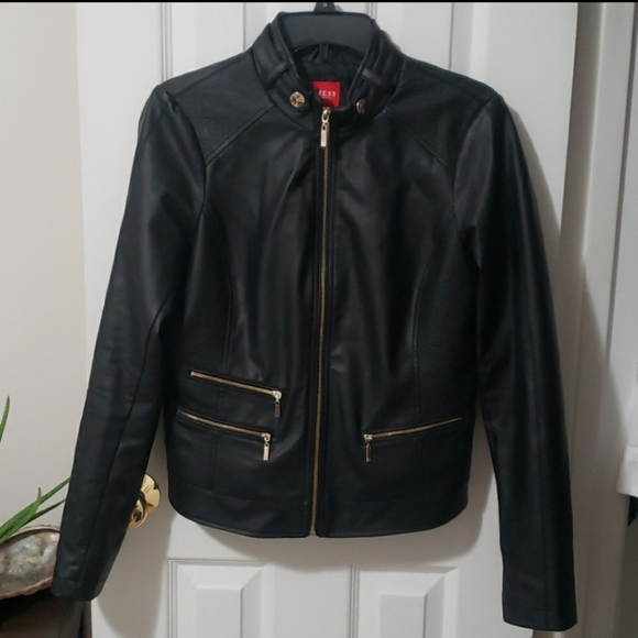 Guess Jackets & Blazers - Guess Faux Leathet Jacket